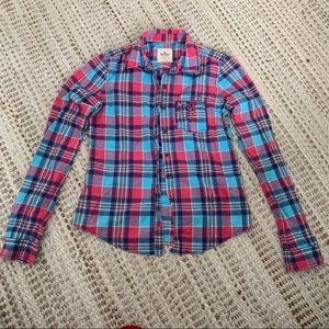 Hollister Flannel Button Up Shirt